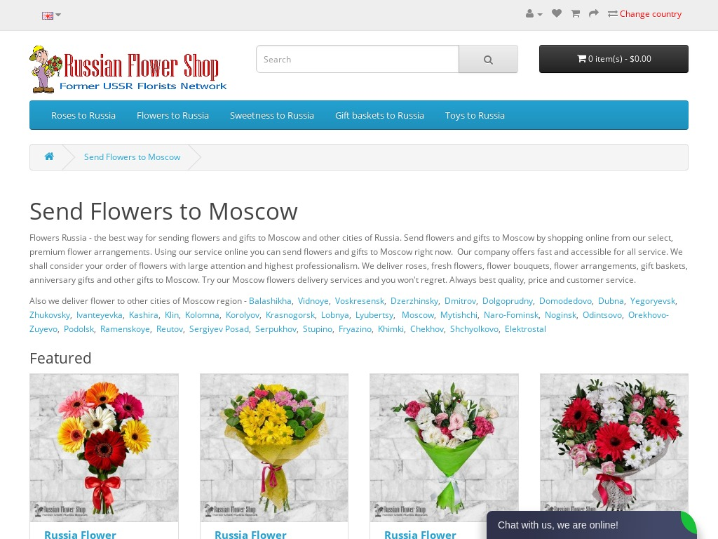 Details : Flower delivery to Moscow, Moscow region of Russia.